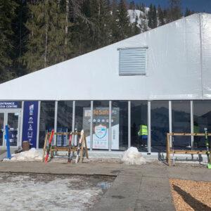 Cabina igienizzante Sanapur BeSafe - Mondiali di Sci Alpino Cortina 2021