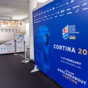 Cabina di sanificante Sanapur BeSafe - Mondiali di Sci Alpino Cortina 2021