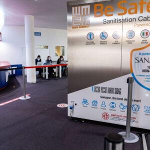 Cabina di sanificazione Sanapur BeSafe - Mondiali di Sci Alpino Cortina 2021