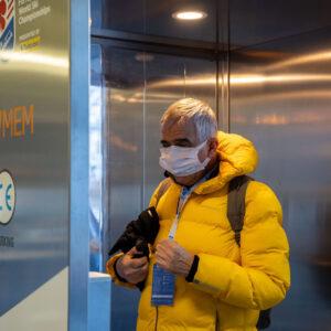 Cabina di disinfezione Sanapur BeSafe - Mondiali di Sci Alpino Cortina 2021