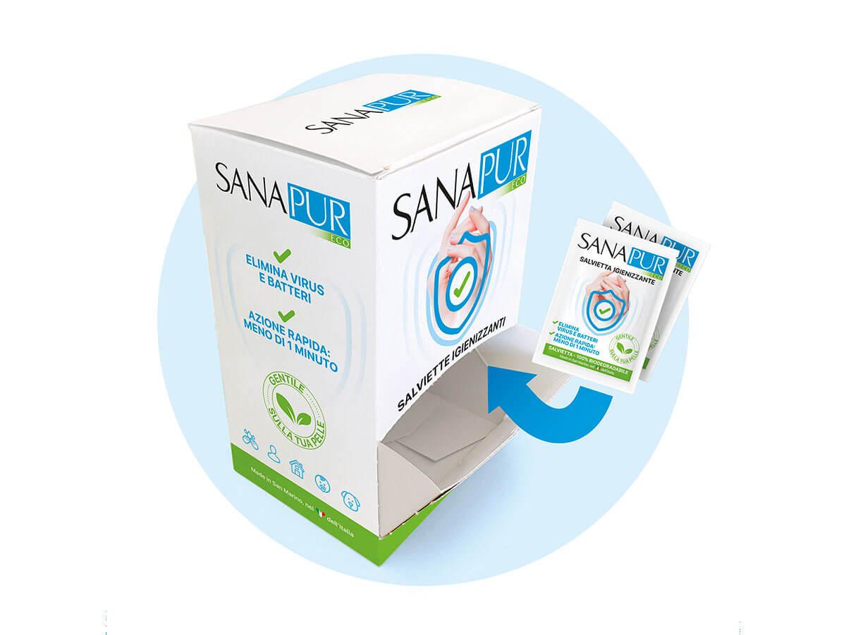 Sanapur Eco salviette + box omaggio